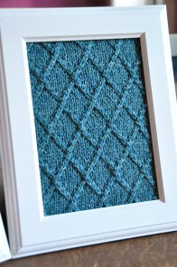 """Fair Isle Flurries"" Knitted Wall Art"