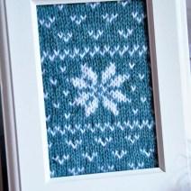 """""""Fair Isle Flurries"""" Knitted Wall Art"""