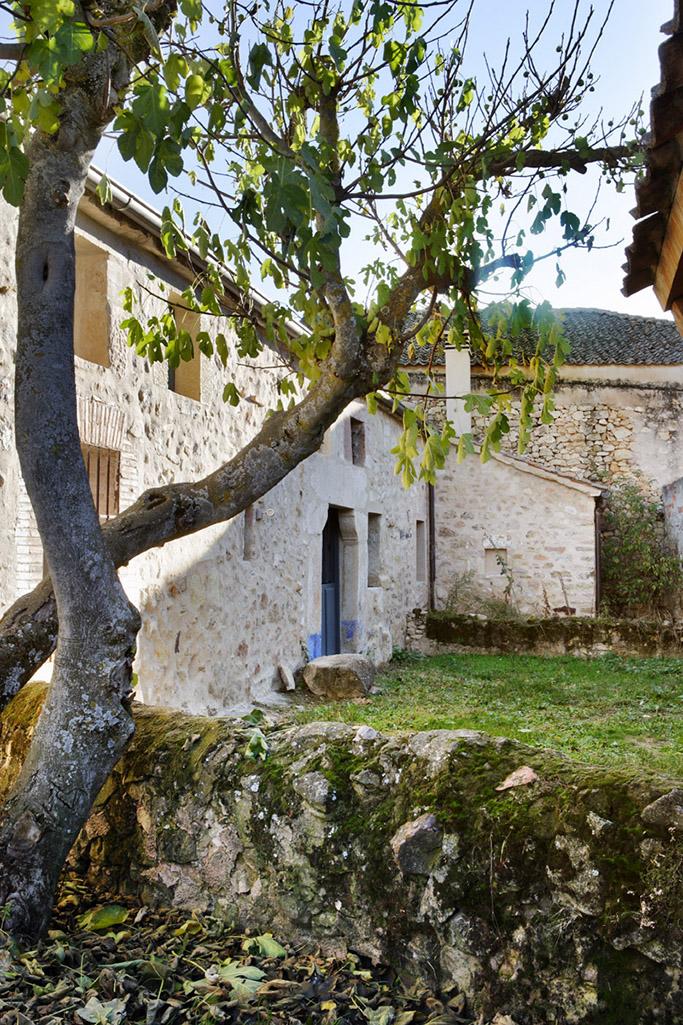 Esterior casa con geotermia en Segovia