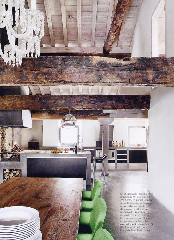 Interior casa con geotermia en Segovia_comedor cocina