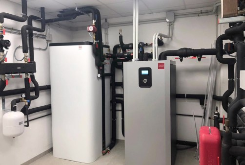 Cuarto de la instalación de geotermia