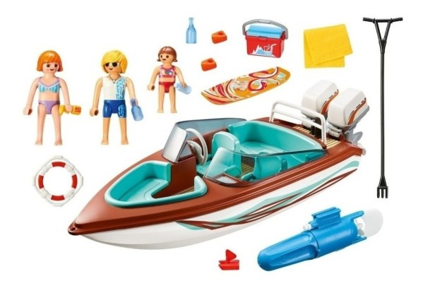 Playmobil Family Fun - Lancha Motora C/ Motor Submarino 9428 - Producto