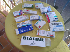 medicaments preparatifs tour du monde