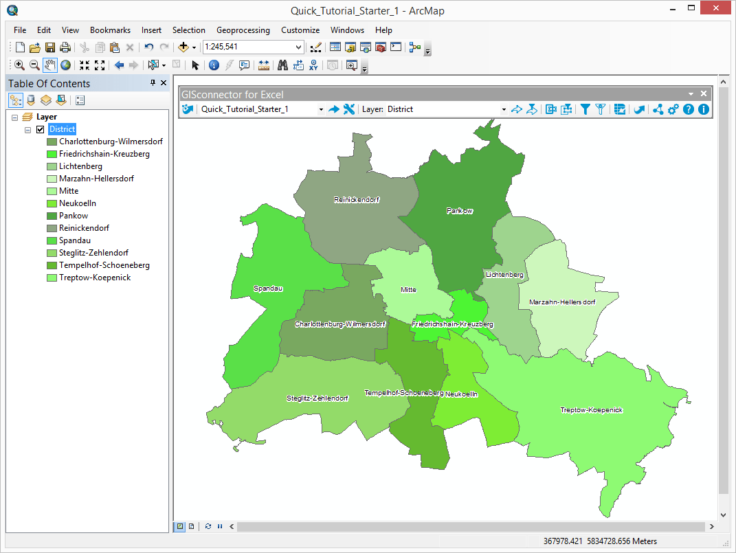Gisconnector For Excel