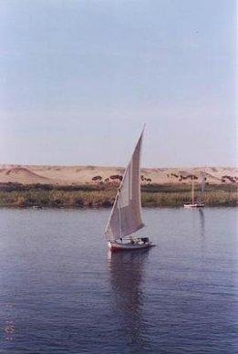 faluca on the Nile , Egypt
