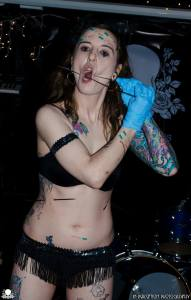 Sideshow Performer, Gisella Rose, Human Pincushion