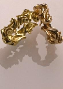 Goddess Rings, 18k Green & Rose