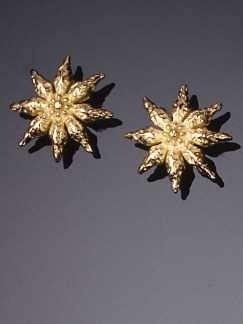 Star Anise Ear Studs, 18k Yellow