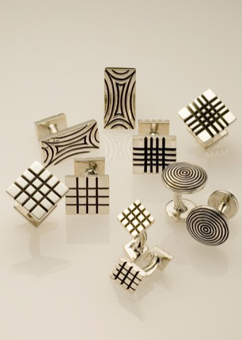 Jazz Cufflinks in Oxidized Sterling