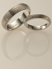 Vine Wedding Rings, Platinum