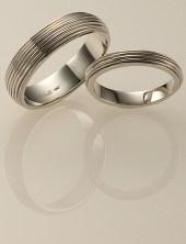 Vine Wedding Rings, Platinum