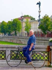 Cyclist, Parma, Italy