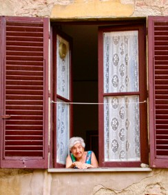 Old Woman, Arezzo, Italy