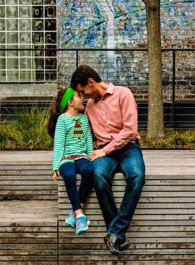 Father & Daughter, The High Line, NYC