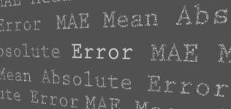 mean absolute error