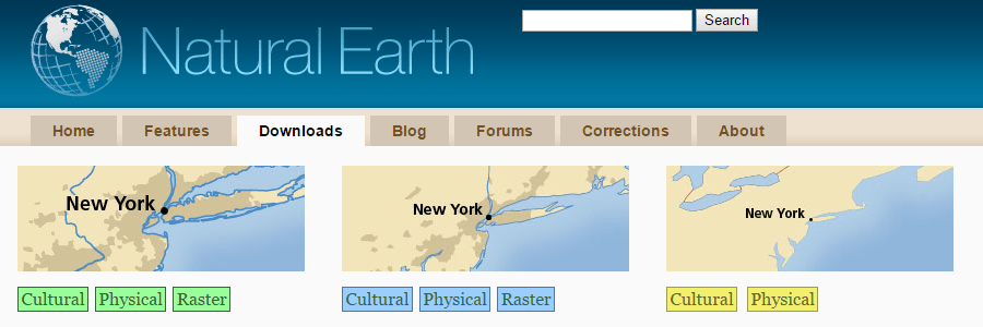 Natural Earth Data