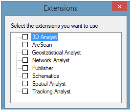 Arcmap Extensions