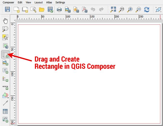 QGIS Composer Map Rectangle