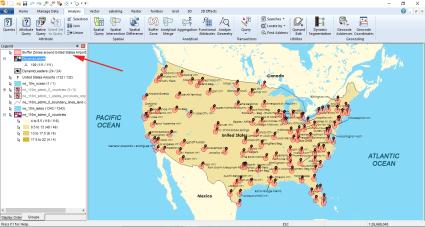 Geomedia Buffer Zones