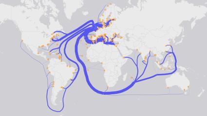 distributive flow map