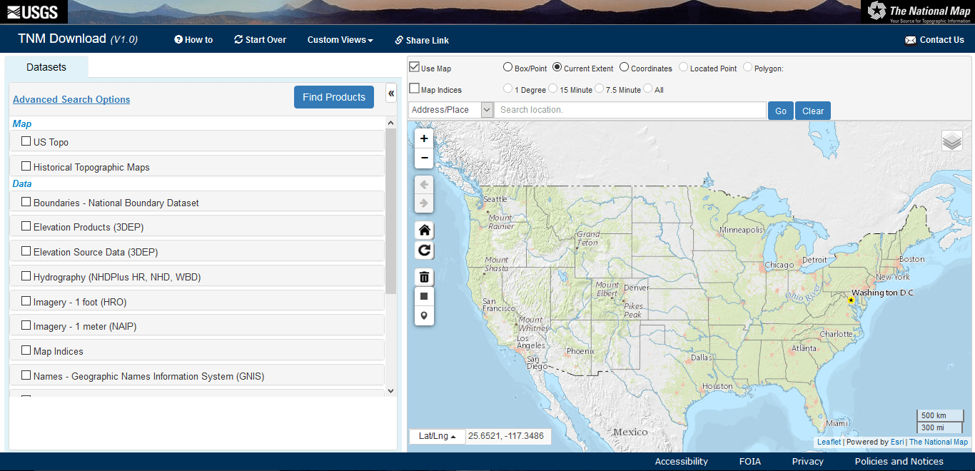 How To Download USGS Topo Maps For Free GIS Geography - Us map you can draw on