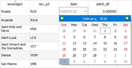 qgis 3 table calendar picker