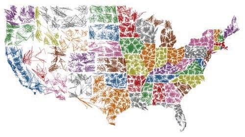 Robert Kosara's Zip Scribble Map