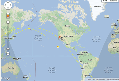 Real-time satellite tracking.