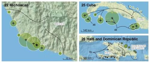 Worldwide Green Turtle Nesting Sites 2011