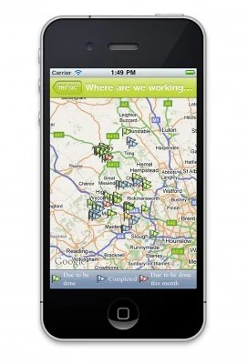 iPhone GIS app developed for Buckinghamshire Highways in the UK - it allows the counties residents to report potholes etc.