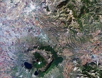 On 11 October 1985, Landsat-5 captured this image while over ESA's ESRIN centre for Earth observation in Italy (south-east of Rome). ESA has been acquiring Landsat data at its European stations since the 1970s. Landsat was the backbone of Earth observation in the early years of ESRIN.   Credits: USGS/ESA.