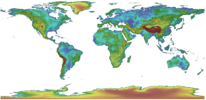 GMTED2010 - Global elevation data.