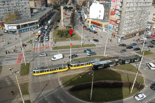Map Installation in Szczecin, Poland 2009.  Source: Aram Bartholl.