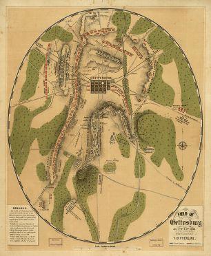Field of Gettysburg, July 1st, 2nd & 3rd, 1863 Prepared by T. Ditterline.