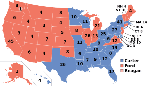 1976 presidential election map.