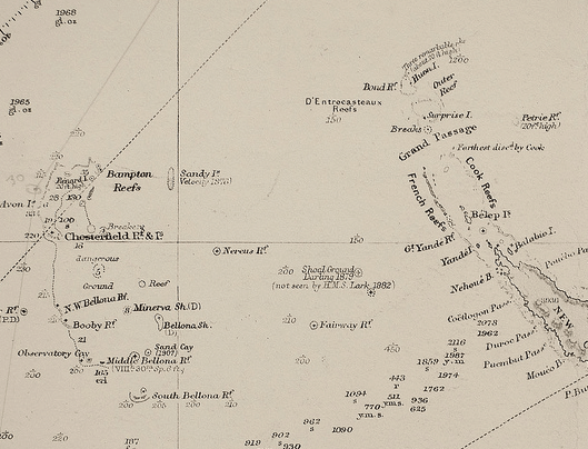 The 1908 admiralty map is believed to have triggered the start of mapping the nonexistent Sandy Island