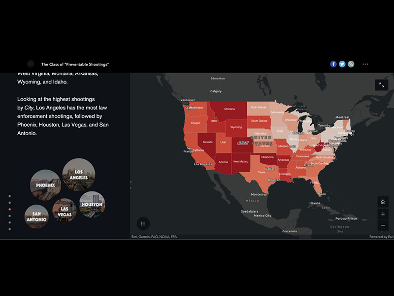 The Class of Preventable Shootings Map