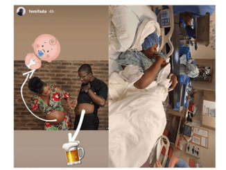 Singer Doyinsola and her husband welcome a baby boy in the U.S