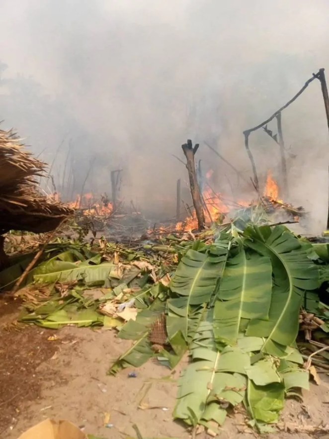 Fire outbreak in fishing settlement