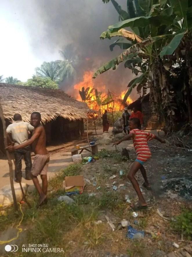 Fire outbreak in fishing settlement in Eastern Obolo, Akwa Ibom State 2