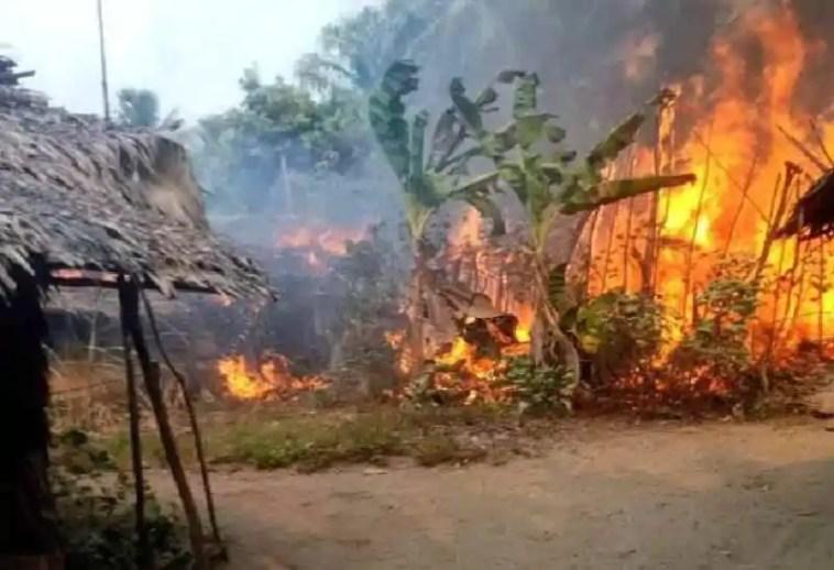 Fire outbreak in fishing settlement in Eastern Obolo, Akwa Ibom State 1