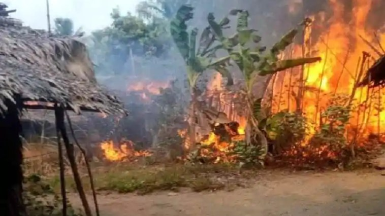 Fire outbreak in fishing settlement in Eastern Obolo, Akwa Ibom State 2