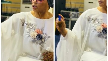 Billionaire businesswoman Folorunso Alakija spotted anointing her church members 6