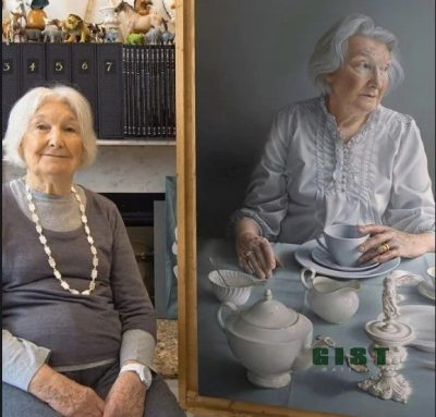 [Photos] Artist paints her mother with incredible detail
