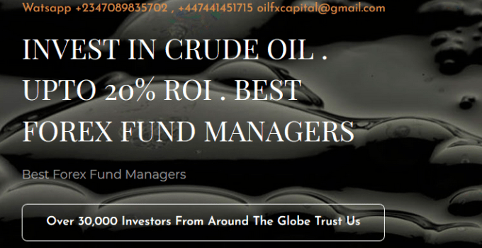 Oilfx-Capital Investment Registration - Invest In Crude Oil & Earn 20% Profit In 4 Weeks - Sign Up Now www.oilfxcapital.com
