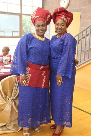 Iya Ibeji (Bride's Aunt) with close family friend of the bride and groom