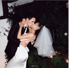 Singer Ariana Grande Shares First Photos From Her Wedding To Dalton Gomez
