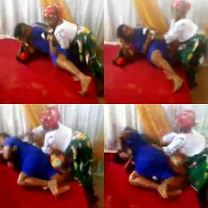 Trending Video Of Pastor's Wife And A Female Member Fight Dirty Inside A Church In Umuahia