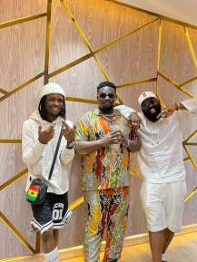 Laycon Hints On New Song As He Meets Wande Coal
