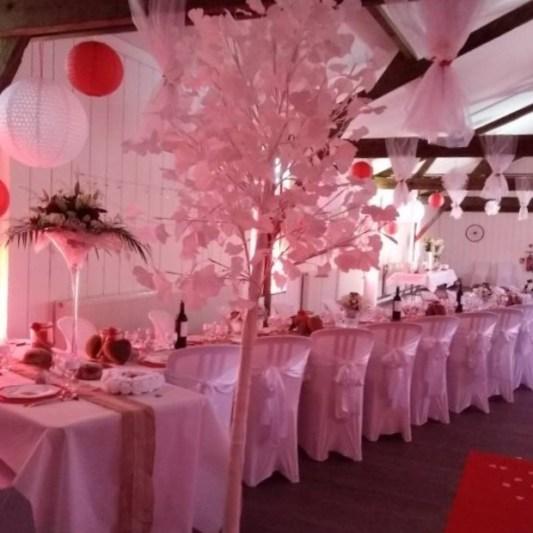 Déco de mariage, grande salle